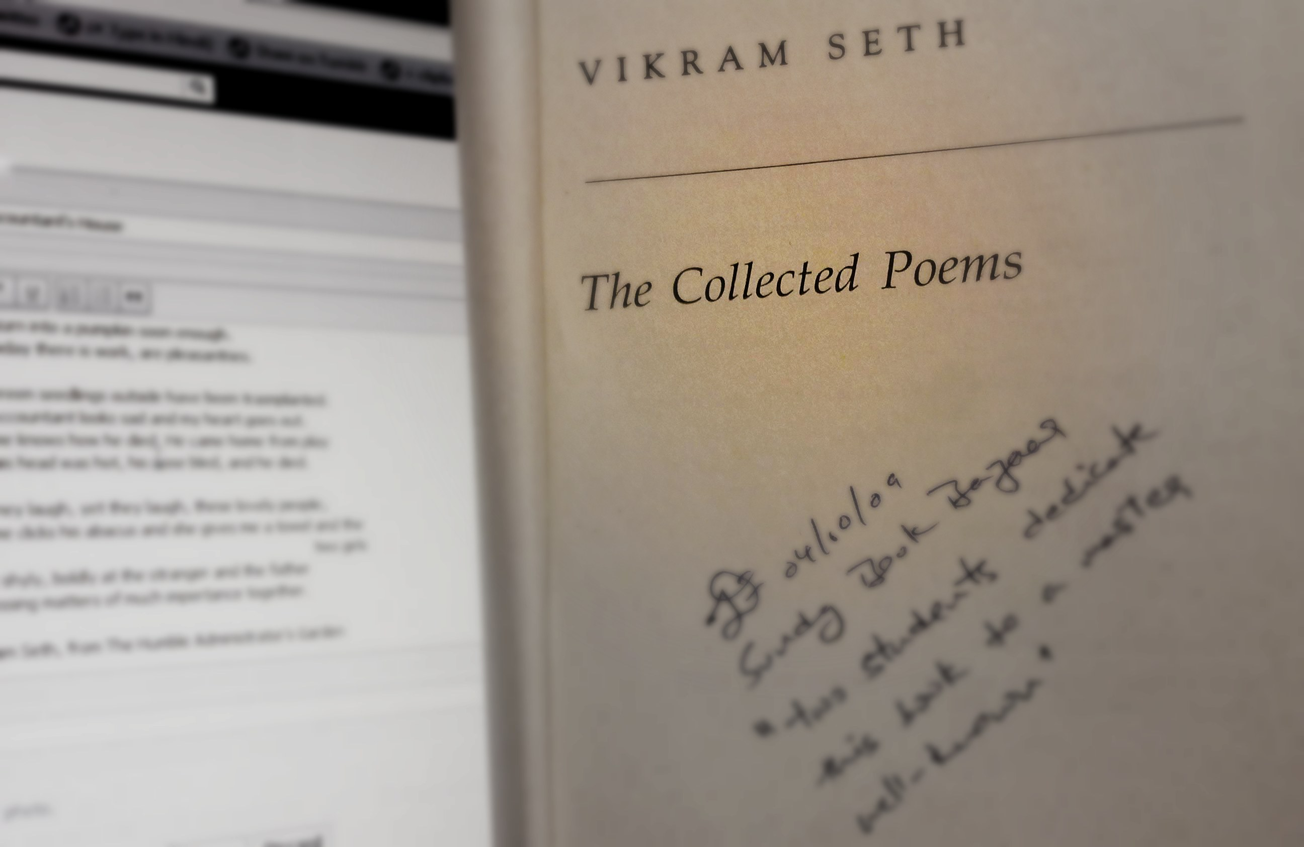 a style of loving by vikram seth This entry was posted on march 21, 2012 at 9:08 am and is filed under poetry with tags a style of loving, poetry, vikram seth you can follow any responses to this entry through the rss 20 feed you can leave a response , or trackback from your own site.